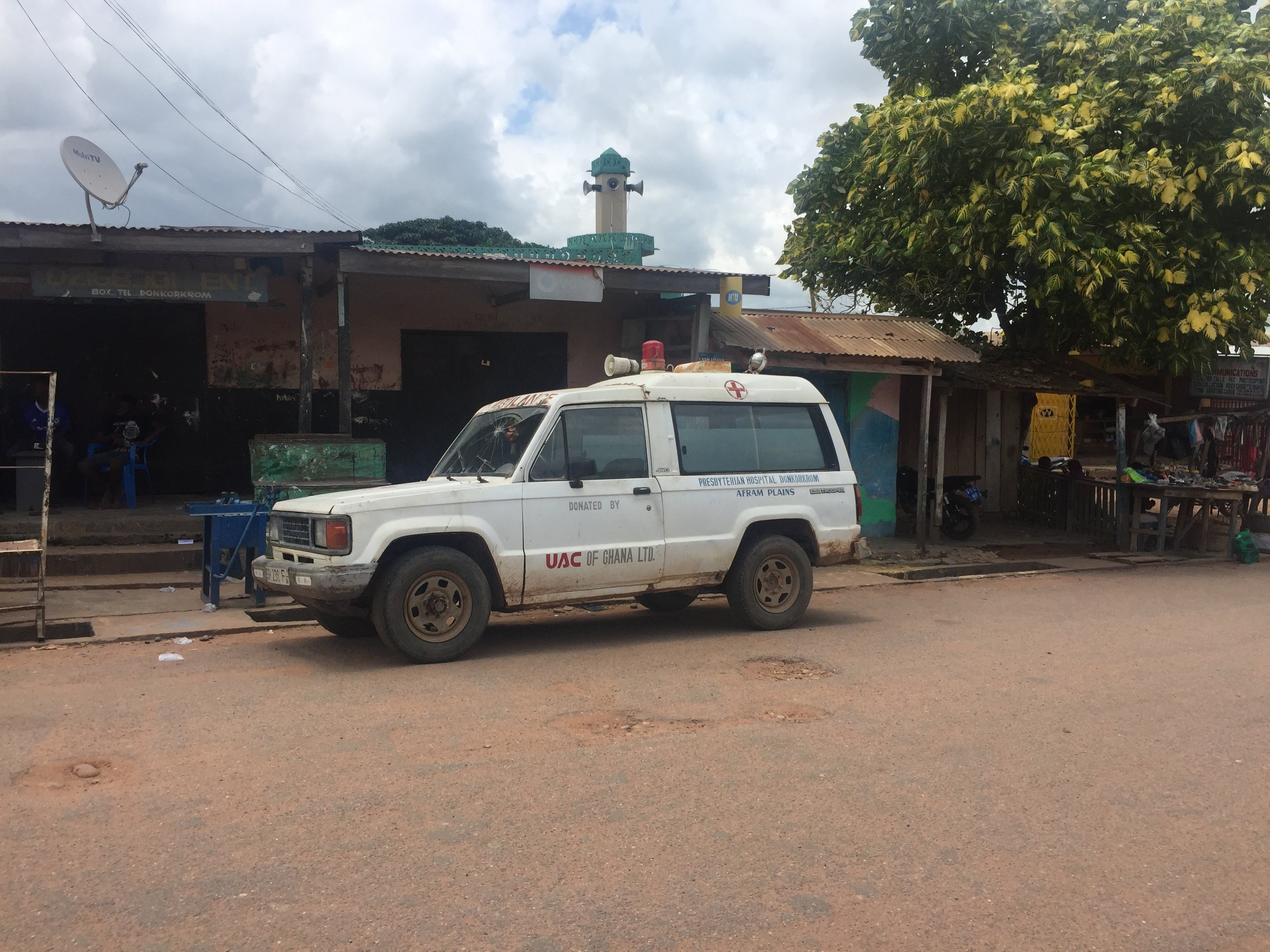 Old Ambulance In Donkorkrom